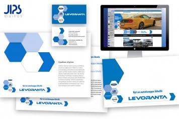 Levoranta | Graafinen ohjeisto varmistaa,että yritysimago ja graafiset elementit noudattavat samaa linjaa riippumatta suunnittelijasta tai julkaisukanavasta. Ohjeisto määrittää typografian, PMS värityksen sekä logon käyttöohjeistuksen. Yritysbrändäys - värikoodaus - graafiset elementit.
