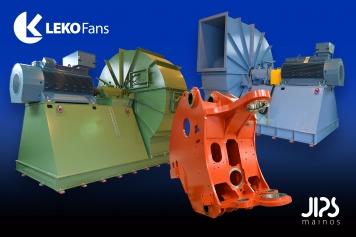 LEKO Fans | Tuotekuvaus suoritettiin konepajassa kohteen suuren koon vuoksi ilman lisävalomahdollisuutta. Kuvaustyöhön vaikutti haasteellinen valaistus ja tehdashallin muu toiminta. Työturvallisuuden vuoksi kuvaajalla on tarvittavat turvavarusteet ja hän on saanut työpaikan turvaopastuksen. Kuvankäsittelyssä tuote irrotetaan ympäristöstä, kuvaan kuulumattomat elementit poistetaan ja väritys tasataan. Digitaalinen markkinointi, tuotantokuvaus, työturvallisuus.