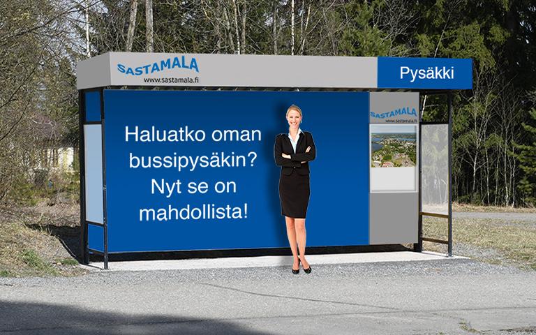 Arvonnassa bussipysäkki!