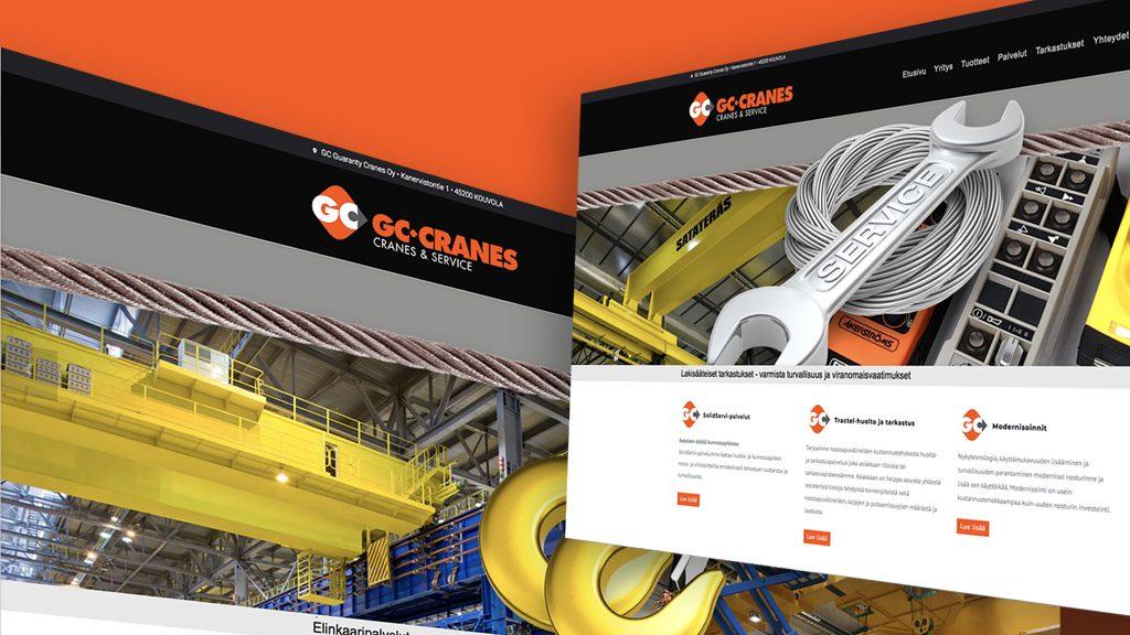 GC-Cranes sai uudet www-sivut JiPS:n avustuksella