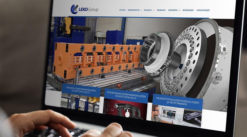 Uudistettu konsernisivusto Leko Groupille